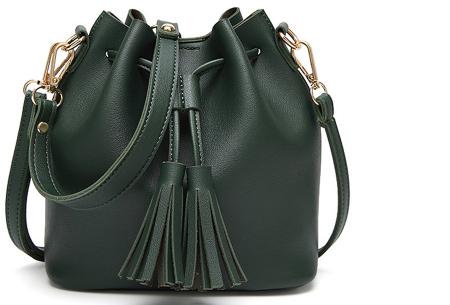 Fancy hand- en schoudertassen | Hippe tassen in 2 modellen en diverse kleuren A - Groen