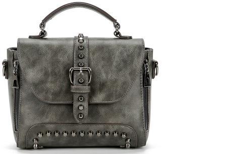 Fancy hand- en schoudertassen | Hippe tassen in 2 modellen en diverse kleuren B - Grijs