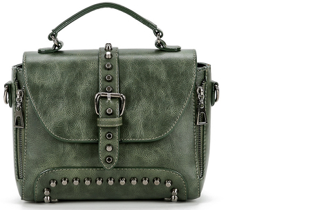 Fancy hand- en schoudertassen | Hippe tassen in 2 modellen en diverse kleuren B - Groen