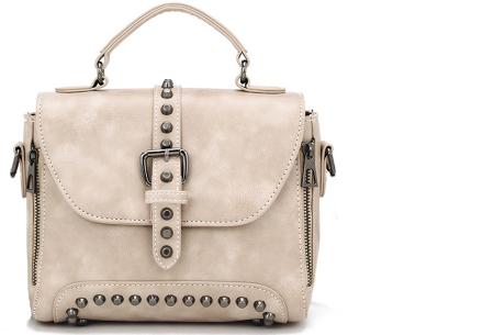 Fancy hand- en schoudertassen | Hippe tassen in 2 modellen en diverse kleuren B - Wit