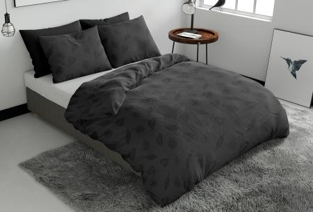 Pierre Cardin dekbedovertrekken Embossed | Luxe, comfort & stijl in één! Leaves - antraciet
