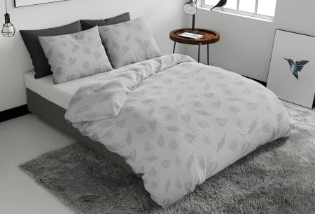 Pierre Cardin dekbedovertrekken Embossed | Luxe, comfort & stijl in één! Leaves - grijs
