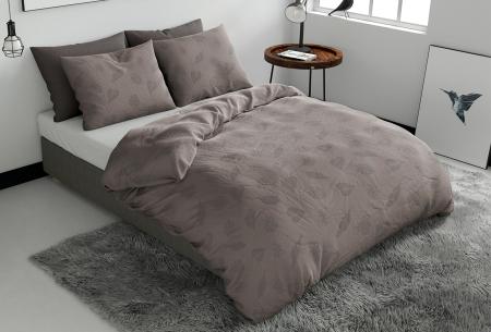 Pierre Cardin dekbedovertrekken Embossed | Luxe, comfort & stijl in één! Leaves - taupe