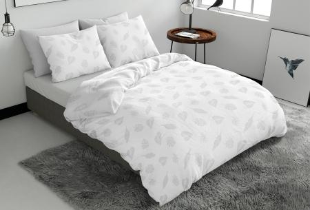 Pierre Cardin dekbedovertrekken Embossed | Luxe, comfort & stijl in één! Leaves - wit