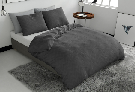 Pierre Cardin dekbedovertrekken Embossed | Luxe, comfort & stijl in één! Zigzag - antraciet