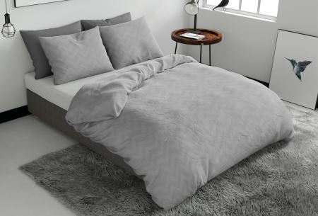 Pierre Cardin dekbedovertrekken Embossed | Luxe, comfort & stijl in één! Zigzag - grijs