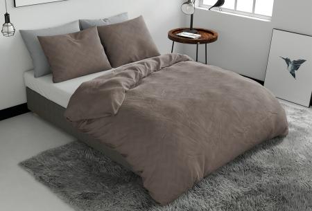Pierre Cardin dekbedovertrekken Embossed | Luxe, comfort & stijl in één! Zigzag - taupe