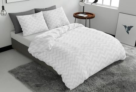 Pierre Cardin dekbedovertrekken Embossed | Luxe, comfort & stijl in één! Zigzag - wit