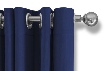 Lifa Living verduisterende gordijnen | Kant & klaar verkrijgbaar in 10 kleuren en 2 maten blauw ringen