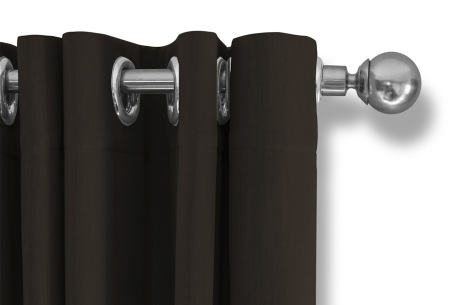 Lifa Living verduisterende gordijnen | Kant & klaar verkrijgbaar in 10 kleuren en 2 maten bruin ringen