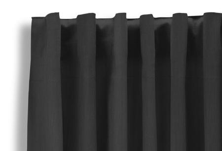 Lifa Living verduisterende gordijnen | Kant & klaar verkrijgbaar in 10 kleuren en 2 maten donkergrijs haken