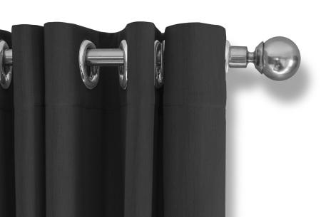 Lifa Living verduisterende gordijnen | Kant & klaar verkrijgbaar in 10 kleuren en 2 maten donkergrijs ringen