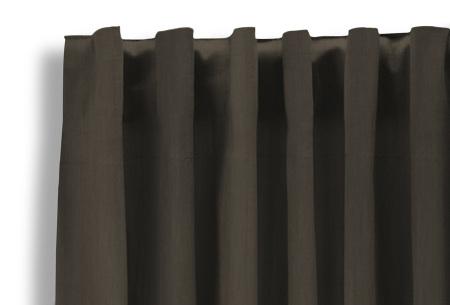 Lifa Living verduisterende gordijnen | Kant & klaar verkrijgbaar in 10 kleuren en 2 maten donker taupe haken