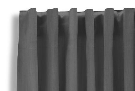 Lifa Living verduisterende gordijnen | Kant & klaar verkrijgbaar in 10 kleuren en 2 maten zilvergrijs haken