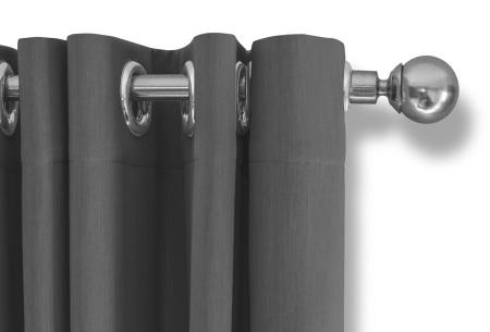 Lifa Living verduisterende gordijnen | Kant & klaar verkrijgbaar in 10 kleuren en 2 maten zilvergrijs ringen