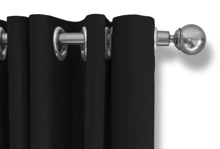 Lifa Living verduisterende gordijnen | Kant & klaar verkrijgbaar in 10 kleuren en 2 maten zwart ringen