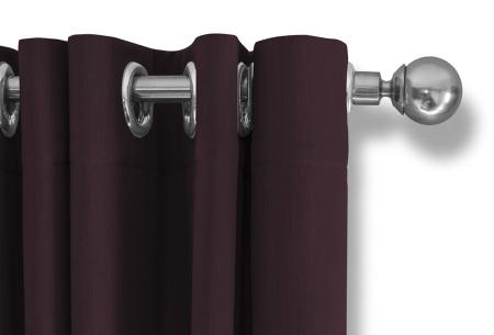 Lifa Living verduisterende gordijnen | Kant & klaar verkrijgbaar in 10 kleuren en 2 maten wijnrood ringen