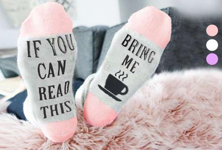 60% korting - Bring me coffee sokken <br/>EUR 3.99 <br/> <a href='https://tc.tradetracker.net/?c=24550&m=1018105&a=230468&u=https%3A%2F%2Fwww.vouchervandaag.nl%2Fbring-me-coffee-sokken' target='_blank'>bekijk product</a>