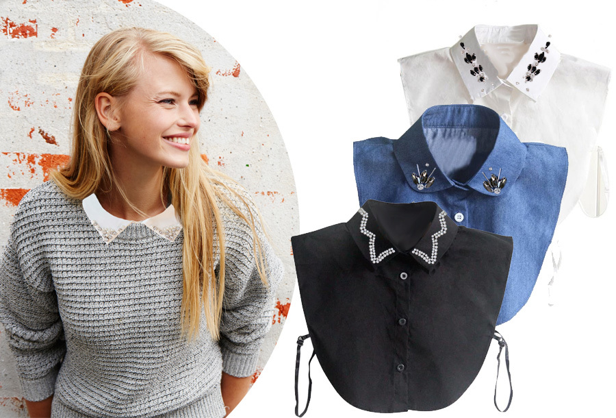 74% korting - Diamond blouse kraagjes