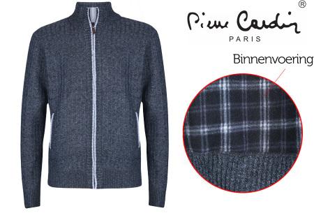 Pierre Cardin vest | Met fleece binnenzijde voor de koude dagen charcoal marl