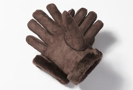 PU lederen handschoenen | Stijlvolle handschoenen voor lekkere warme handen Donkerbruin