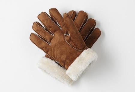PU lederen handschoenen | Stijlvolle handschoenen voor lekkere warme handen Lichtbruin