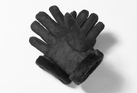 PU lederen handschoenen | Stijlvolle handschoenen voor lekkere warme handen Zwart
