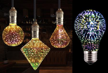 LED vuurwerklamp in 10 modellen nu met korting
