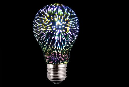 Led-vuurwerklamp in 10 modellen | Feestelijke lichtbronnen met spectaculair 3D vuurwerkeffect A60 - wit