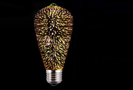 Led-vuurwerklamp in 10 modellen | Feestelijke lichtbronnen met spectaculair 3D vuurwerkeffect ST64 - warm wit