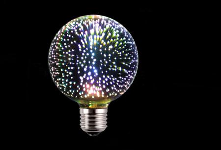 Led-vuurwerklamp in 10 modellen | Feestelijke lichtbronnen met spectaculair 3D vuurwerkeffect G95 rond - wit