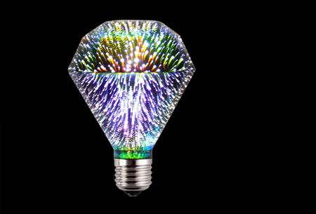 Led-vuurwerklamp in 10 modellen | Feestelijke lichtbronnen met spectaculair 3D vuurwerkeffect G95 diamant - wit