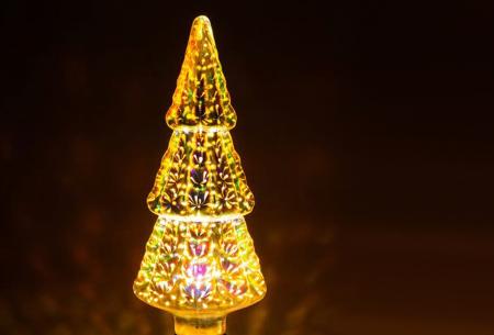 Led-vuurwerklamp in 10 modellen | Feestelijke lichtbronnen met spectaculair 3D vuurwerkeffect Kerstboom - warm wit