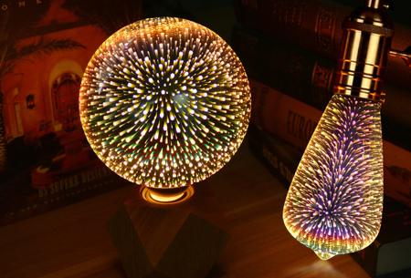 Led-vuurwerklamp in 10 modellen | Feestelijke lichtbronnen met spectaculair 3D vuurwerkeffect