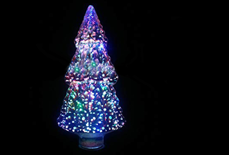 Led-vuurwerklamp in 10 modellen | Feestelijke lichtbronnen met spectaculair 3D vuurwerkeffect Kerstboom - wit