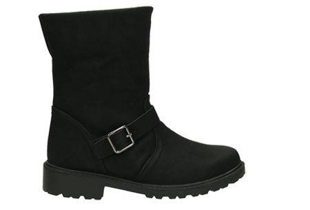 Gevoerde Buckle enkellaarsjes   De tijd van koude voeten is voorbij  Zwart