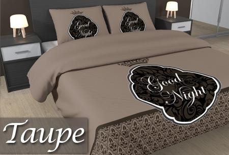 1 2 persoons of lits jumeaux goodnight dekbedovertrek in taupe grijs of zwart nu al vanaf 14 95 - Taupe en grijs ...