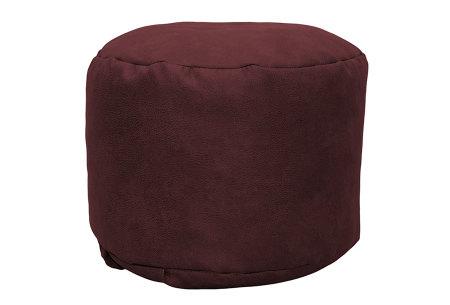 Drop & Sit Leather look poef | Verkrijgbaar in 2 modellen in maar liefst 15 verschillende kleuren Rond - Bordeauxrood