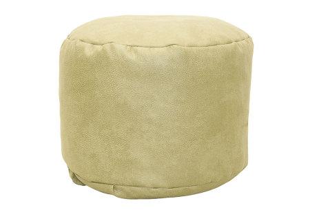 Drop & Sit Leather look poef | Verkrijgbaar in 2 modellen in maar liefst 15 verschillende kleuren Rond - Crème