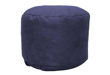 Drop & Sit Leather look poef | Verkrijgbaar in 2 modellen in maar liefst 15 verschillende kleuren Rond - Donkerblauw