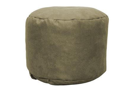 Drop & Sit Leather look poef | Verkrijgbaar in 2 modellen in maar liefst 15 verschillende kleuren Rond - Lever beige