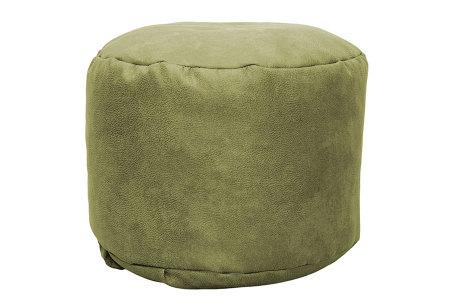 Drop & Sit Leather look poef | Verkrijgbaar in 2 modellen in maar liefst 15 verschillende kleuren Rond - Lime groen
