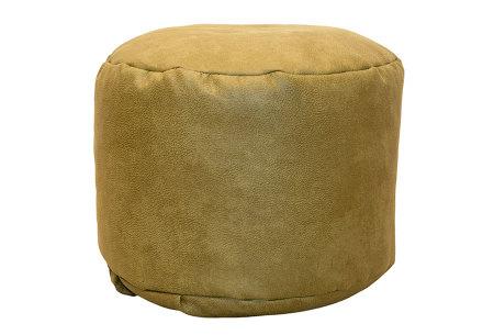 Drop & Sit Leather look poef | Verkrijgbaar in 2 modellen in maar liefst 15 verschillende kleuren Rond - Mais geel