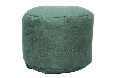 Drop & Sit Leather look poef | Verkrijgbaar in 2 modellen in maar liefst 15 verschillende kleuren Rond - Petrol groen