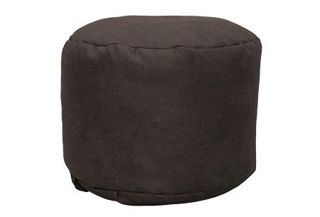 Drop & Sit Leather look poef | Verkrijgbaar in 2 modellen in maar liefst 15 verschillende kleuren Rond - Taupe