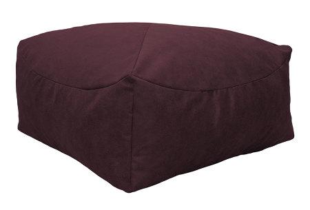 Drop & Sit Leather look poef | Verkrijgbaar in 2 modellen in maar liefst 15 verschillende kleuren Vierkant - Bordeauxrood