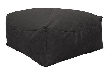 Drop & Sit Leather look poef | Verkrijgbaar in 2 modellen in maar liefst 15 verschillende kleuren Vierkant - Donkergrijs