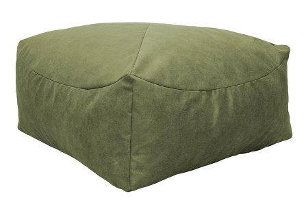 Drop & Sit Leather look poef | Verkrijgbaar in 2 modellen in maar liefst 15 verschillende kleuren Vierkant - Lime groen