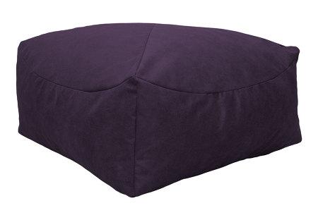 Drop & Sit Leather look poef | Verkrijgbaar in 2 modellen in maar liefst 15 verschillende kleuren Vierkant - Paars