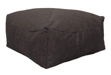 Drop & Sit Leather look poef | Verkrijgbaar in 2 modellen in maar liefst 15 verschillende kleuren Vierkant - Taupe